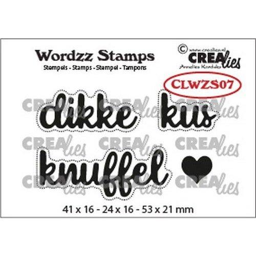 Crealies CLWZS07 - Crealies Clearstamp Wordzz Dikke kus (NL)  53x21mm