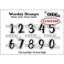 CLWZS99 - Crealies Clearstamp Wordzz Cijfers  16mm