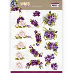 CD11613 - 10 stuks knipvellen - Precious Marieke - Romantic Roses - Purple Rose