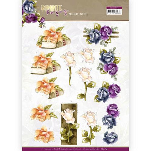 Yvonne Creations CD11614 - 10 stuks knipvellen - Precious Marieke - Romantic Roses - Multicolor Rose
