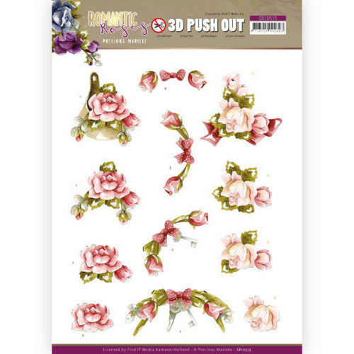 Yvonne Creations SB10515 - Uitdrukvel - Precious Marieke - Romantic Roses - Pink Rose