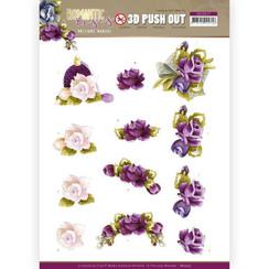 SB10517 - Uitdrukvel - Precious Marieke - Romantic Roses - Purple Rose