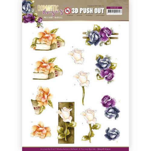 Yvonne Creations SB10518 - HJ19101 - Uitdrukvel - Precious Marieke - Romantic Roses - Multicolor Rose
