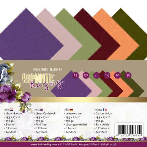 Yvonne Creations PM-4K-10028 - Linnen karton pak - 4K - Precious Marieke - Romantic Roses