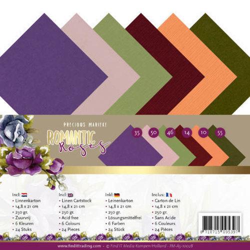 Yvonne Creations PM-A5-10028 - Linnen karton pak- A5 - Precious Marieke - Romantic Roses