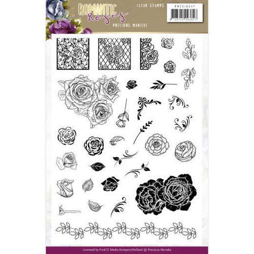Yvonne Creations PMCS10047 - Stempeltjes - Precious Marieke - Romantic Roses