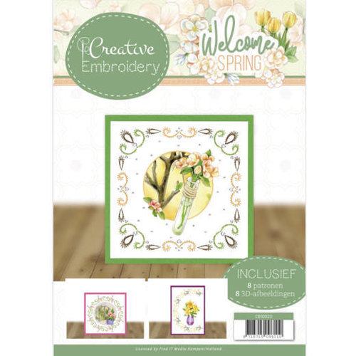 Jeanines Art CB10023 - Creative Embroidery 23 - Jeanines Art - Welcome Spring
