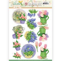 SB10529 - Uitdrukvel - Jeanines Art  Welcome Spring - Hyacinth