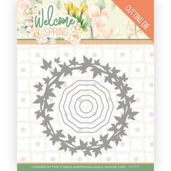 JAD10112 - Mal - Jeanines Art  Welcome Spring - Leaf Wreath