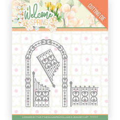 JAD10113 - Mal - Jeanines Art  Welcome Spring - Arch and Fence