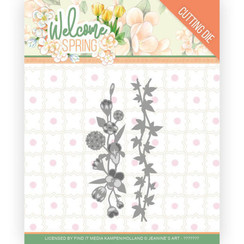 JAD10114 - Mal - Jeanines Art  Welcome Spring - Flowers and Leaf Borders