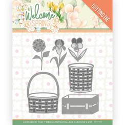 JAD10116 - Mal - Jeanines Art  Welcome Spring - Spring Basket