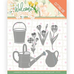 JAD10117 - Mal - Jeanines Art  Welcome Spring - Watering Can and Bucket