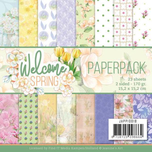 Jeanines Art JAPP10018 - papierpak - Jeanines Art  Welcome Spring