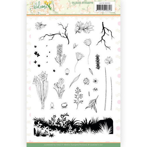 Jeanines Art JACS10035 - Stempeltjes - Jeanines Art  Welcome Spring