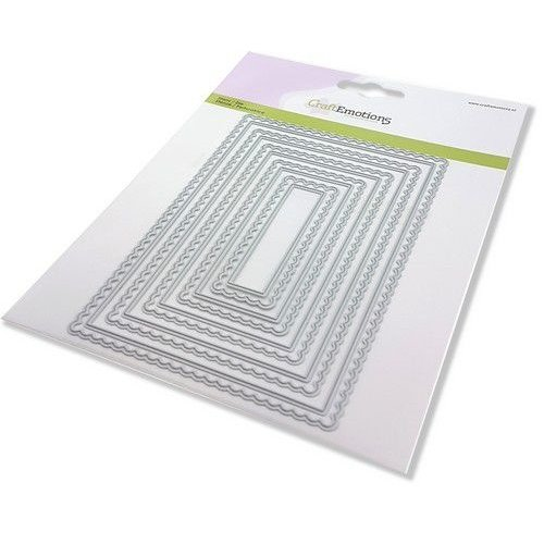 CraftEmotions CraftEmotions Big Nesting Mal - scalop rechthoeken Card 150x160 - scalop 8 - 15cm