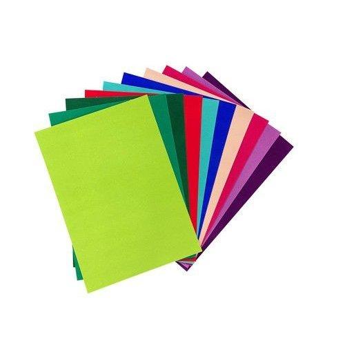 Joy!Crafts 8011/0003 - Joy! Crafts Fluweel Papier zelfklevend Felle kleuren 10vl 29,7x21cm