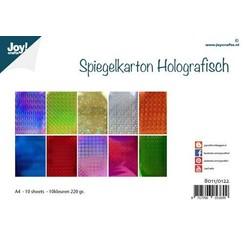 8011/0122 - Joy! Crafts Spiegelkarton Holografisch 10vl A4