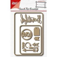 6002/0914 - Joy! Crafts Stansmal - Scrap Beautiful Love kit 152x102 mm