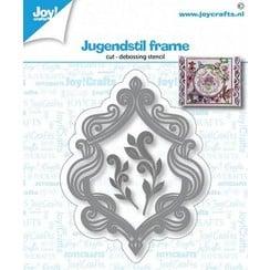 6002/1423 - Joy! Crafts Snij-debosstencil - Jugendstil frame 80x61 mm
