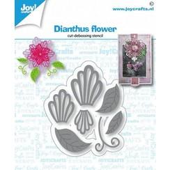 6002/1430 - Joy! Crafts Snij-debosstencil - Dianthus bloem 61x52 mm