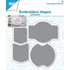6002/1432 - Joy! Crafts Snijstencil - Borduur vormen 78x76 mm