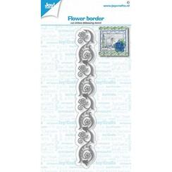 6002/1436 - Joy! Crafts Snij-debos-embosstencil - bloemen rand 150x18 mm