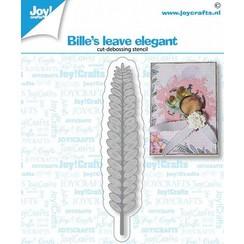 6002/1439 - Joy! Crafts Snij-debosstencil - Bille's blad elegant 18x87mm