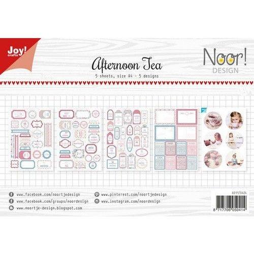 Joy!Crafts 6011/0424 - Joy! Crafts Labelvellen/knipvel - Afternoon tea A4 - 190/240 gr