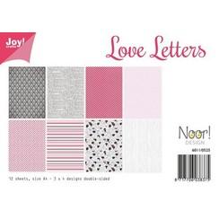 6011/0525 - Joy! Crafts Papierset - Love Letters 12vl A4 - 200 gr