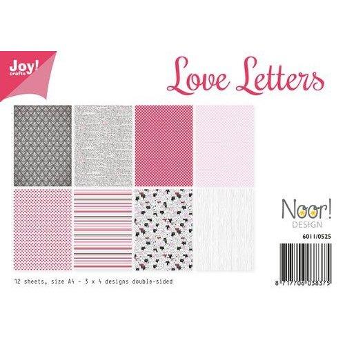Joy!Crafts 6011/0525 - Joy! Crafts Papierset - Love Letters 12vl A4 - 200 gr