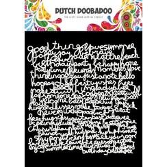 Dutch Doobadoo Mask Art 15x15cm Tekst 470.715.626