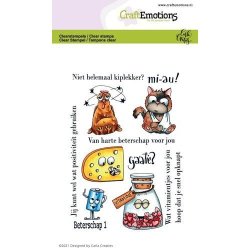 CraftEmotions CraftEmotions clearstamps A6 - beterschap 1 Carla Creaties