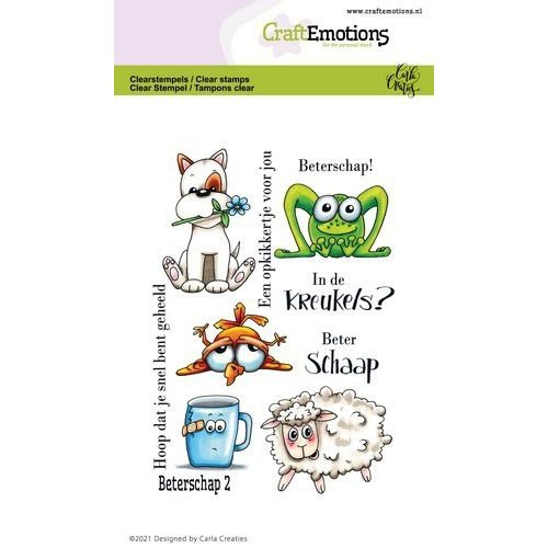 CraftEmotions CraftEmotions clearstamps A6 - beterschap 2 Carla Creaties
