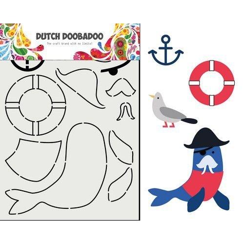 Dutch Doobadoo Dutch Doobadoo Card Art Built up Zeeleeuw 470.713.849