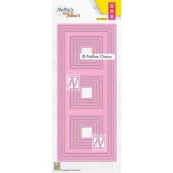 Nellies Choice Multi Frame Die - Slimline vierkant MFD140 87,5x212,5mm