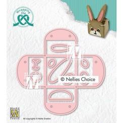 Nellies Choice Wrapping Die gift-box - Eierdopje WPD014 118x115mm