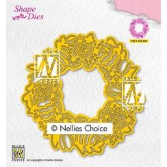 Nellies Choice Shape Die - Paaskrans SD188 102x102mm