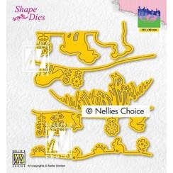 Nellies Choice Shape Die - Lente SD192 103x92mm