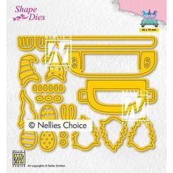 Nellies Choice Shape Die - Build-up Ei transport SD194 86x78mm