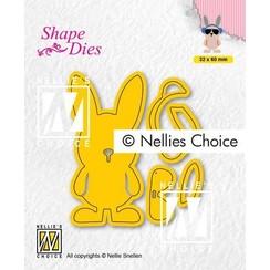 Nellies Choice Shape Die - Build-up Macho haas SD195 32x60mm