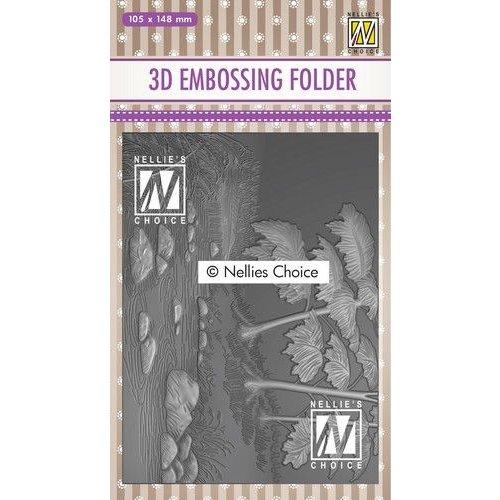 Nellie Snellen Nellies Choice 3D Emb. folder Waterval EF3D018 105x148mm