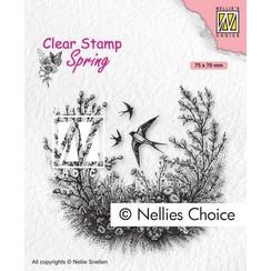 Nellies Choice Clearstempel - Lente SPCS016 75x70mm