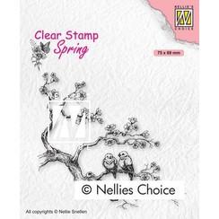 Nellies Choice Clearstempel - Lente liefdes SPCS017 75x69mm