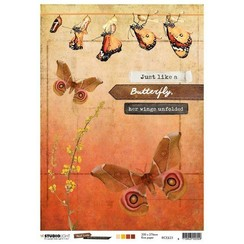Studio Light Rice Paper Butterfly Collection nr.23 RICEJL23 A4