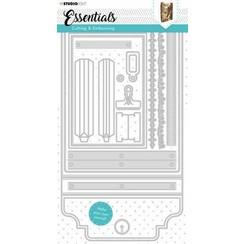 Studio Light Cutting & Emb. Die Journal Essentials nr.381 STENCILSL381 150x290mm
