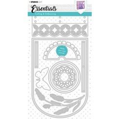 Studio Light Cutting & Emb. Die Journal Essentials nr.382 STENCILSL382 143x292mm