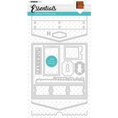 Studio Light Cutting & Emb. Die Journal Essentials nr.383 STENCILSL383 143x285mm