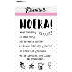 Studio Light Clear Stamp Tekst (NL) Hoera Essentials nr.523 STAMPSL523 A6