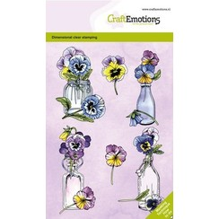 CraftEmotions clearstamps A6 - Viooltjes GB Dimensional stamp